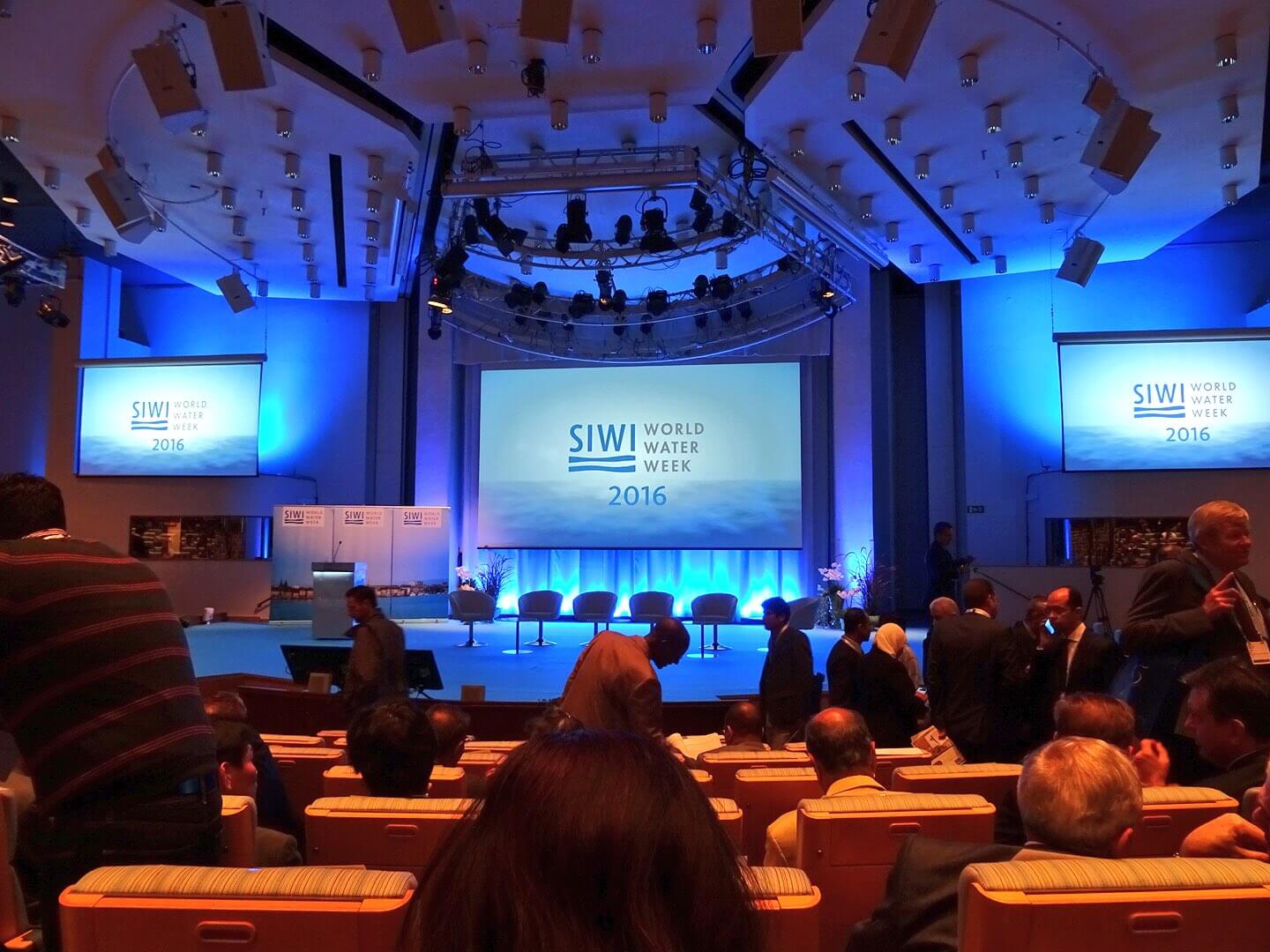 Opening plenary at Stockholm World Water Week 2016